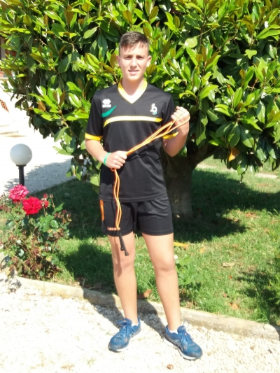 "Matteo Cardinali vince la ""Fiamme Gialle Jump Rope Challenge"""