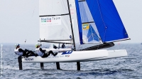 Nacra 17 worlds: prime regate in Francia