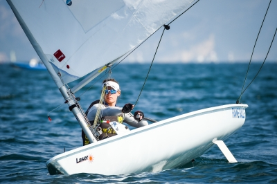 "World Championships classe ""Laser radial"" – Day 1."