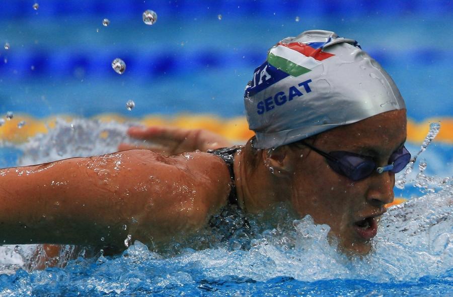 5489751babaf Francesca Segat impegnata nei 200 farfalla ai campionati Europei di  Budapest 2006, dove conquistò la