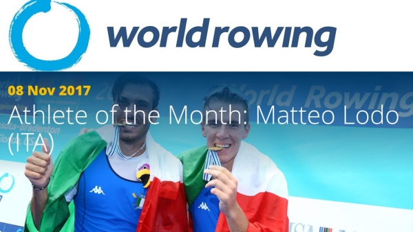 Matteo Lodo eletto Atleta del Mese dalla World Rowing Federation