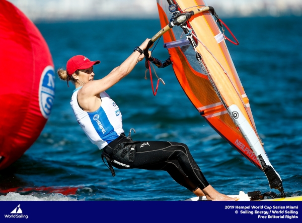 WORLD CUP SERIES 2019 DI MIAMI: FLAVIA TARTAGLINI IN MEDAL RACE NEGLI RS:X